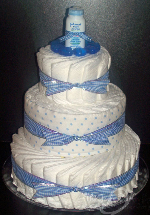 Diaper Cake Baby Shower Tutorial