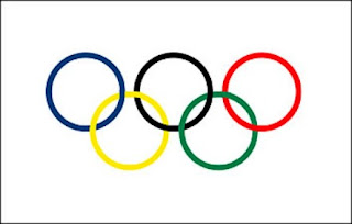 the colors at the correct intersections for an interesting wikipedia article about the olympic symbols click here below is an image of the rings