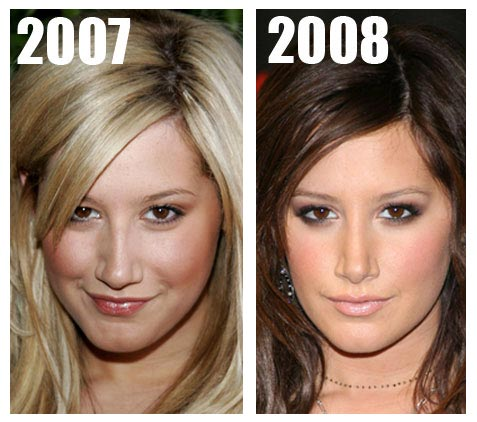 Ashley Tisdale Nose Job Before