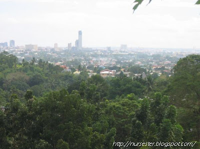 A very beautiful scenery of Cebu at the top of the mountain