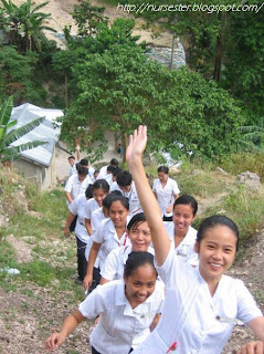 Community Health Nurses on a Mountain Trek in Barangay Buhisan Cebu