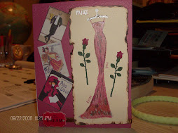 Vintage dress card