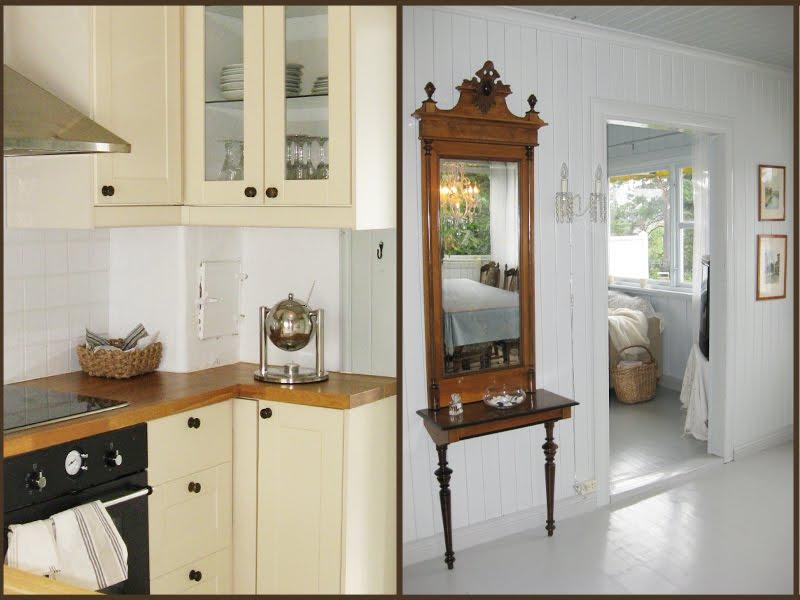 Kjøkken med oppvaskmaskin og inngang til spisestue - klikk på bildet ...