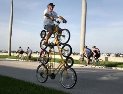 Fotos de bicicletas extrañas y Raros inventos en ruedas