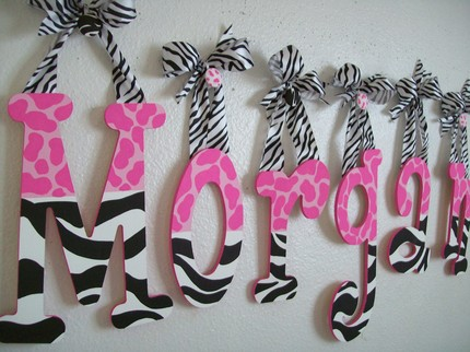 The horton family pink with a splash of zebra for Cute zebra bedroom ideas