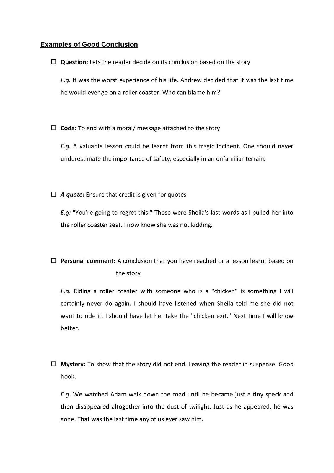 narrative writing tips
