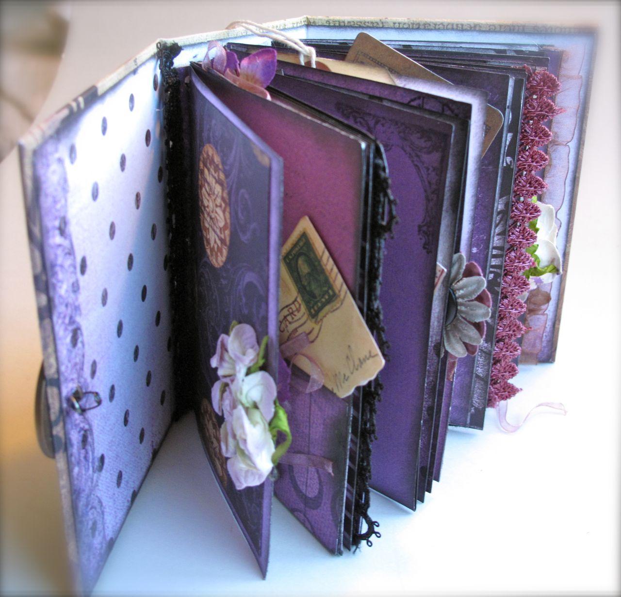 How to scrapbook a mini album -  Scraps Prima Scrapbooking Mini Album