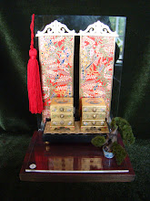 Oriental mini chests - Gold Leaf and chinoiserie