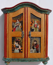 Chest with paintings representing the four seasons - scale l1/10