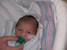 Baby Ross in the hospital 2 weeks old