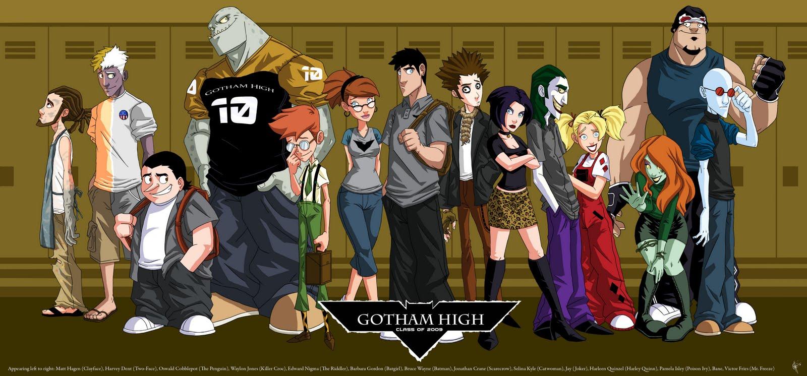 »Gotham High« von Jeffrey Thomas & Celeste Green. — Klick auf das Bild führ zu einer größeren Ansicht.