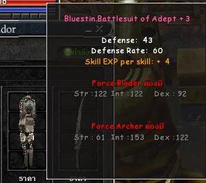 Bluestin Battlesuit of Adept