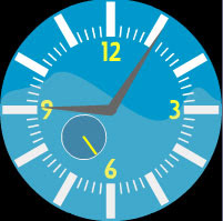 free flash analog clock classic blue