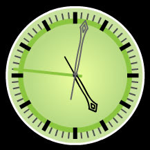 green melancholy free Flash clock