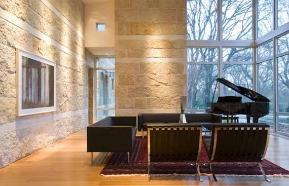 luxurious clad stones house design by chambers architects