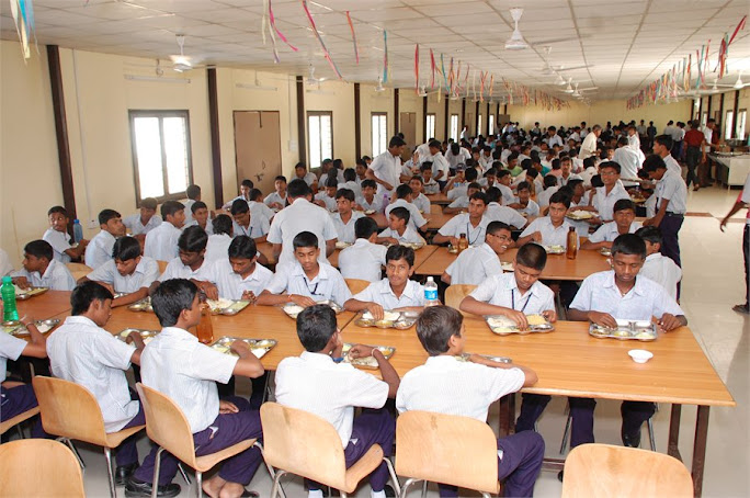 RGUKT Students, IIIT Basar Students in the mess hall