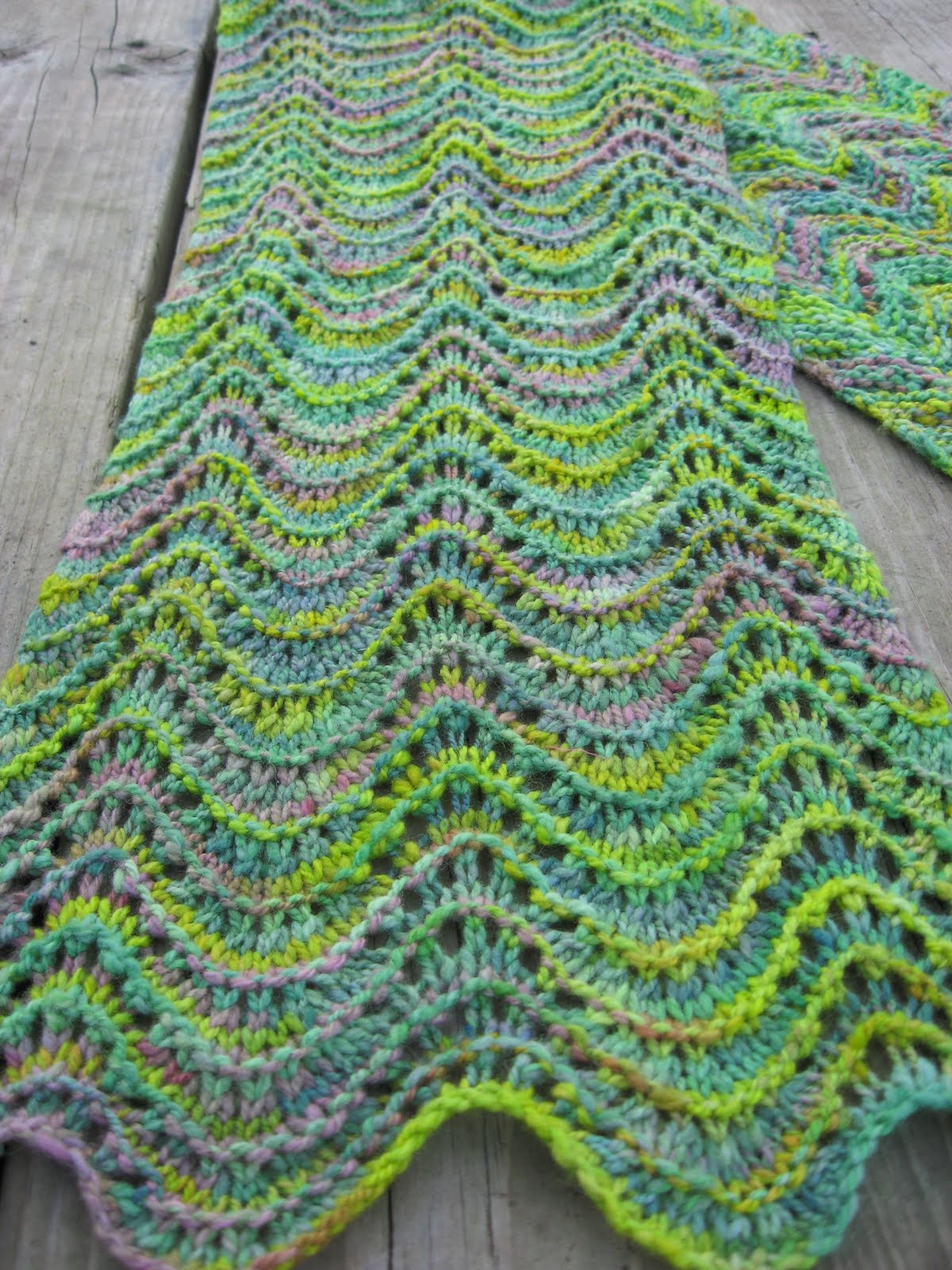 Holly Marie Knits: New Free Pattern: Seaweed Stole/Scarf !!!
