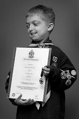 Harry with his Chief Scout Award