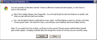 google chrome switcher beta a dev