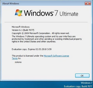 windows 7 build 7077