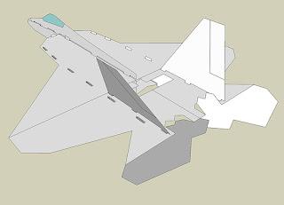 Чертежи плосколета F-22 Raptor