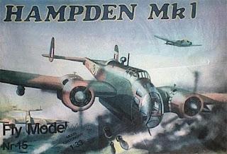 Бумажная модель двухмоторного самолета Hampden MK1