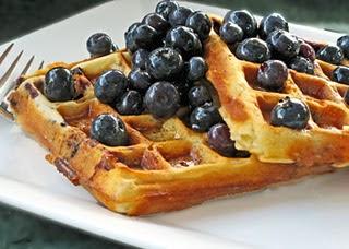 Bon Appetite: Blueberry-Yogurt Waffles