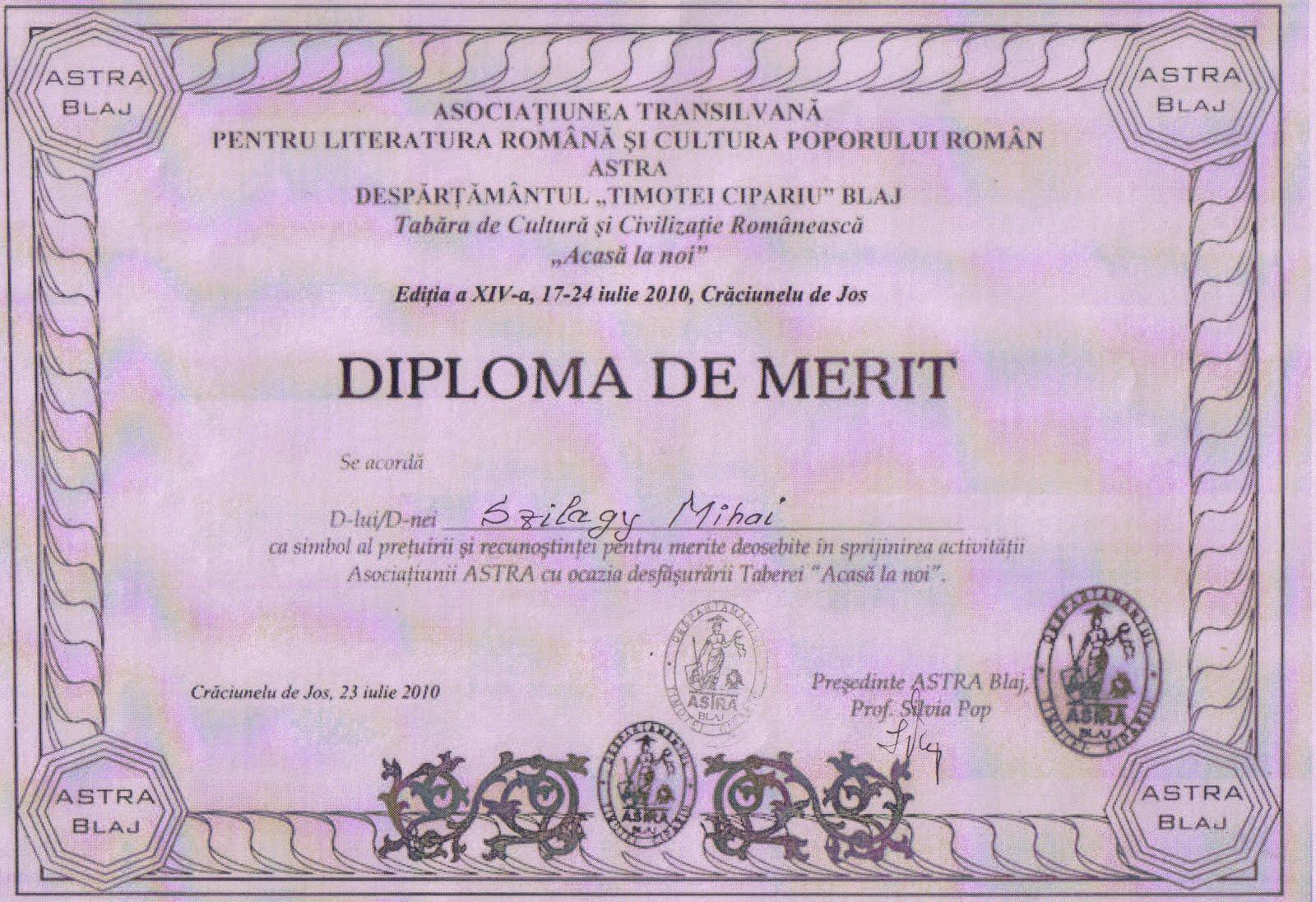 Model Diploma Trilulilu Fotografie Diploma De Merit Gradinita