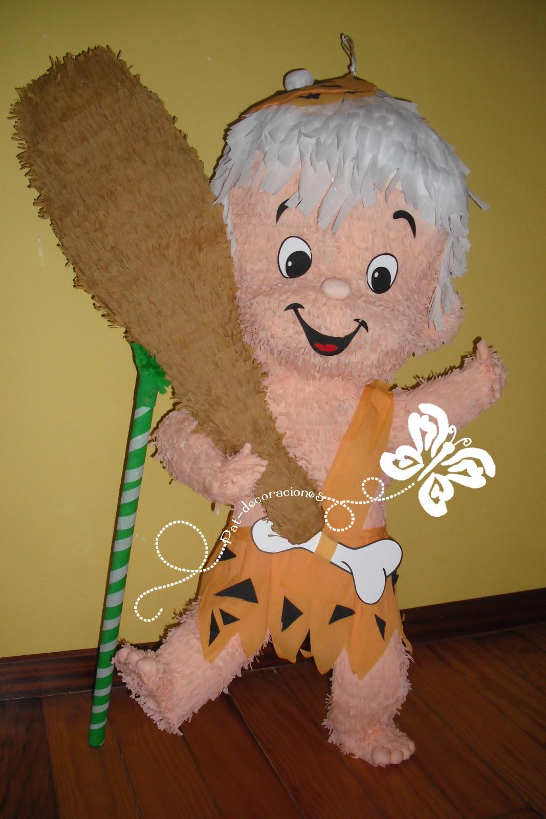 Fiestas de bam bam imagui for Decoracion para pinatas