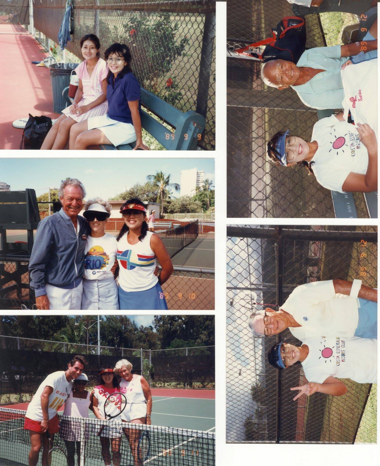 Tennis Friends in the World and HI. Successful Aging and Gerontology.      ハワイと世界のテニス仲間.