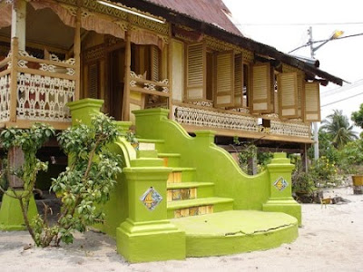 gambar tangga rumah on ... (Transisi bentuk dan seni corak tangga batu dan ubin ) Rumah Melaka