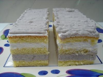 Yam Layer Sponge Cake Recipe