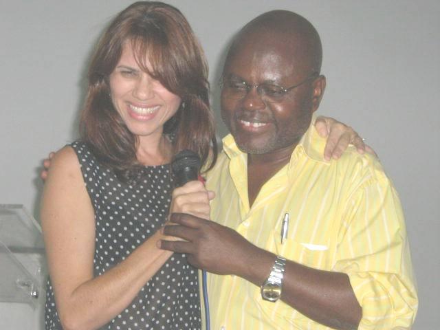 Lucélia Costa e Prof. Pedro