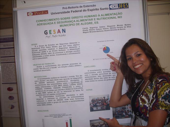 Camila Negreiros apresenta trabalho no Mega Evento 2010- SP