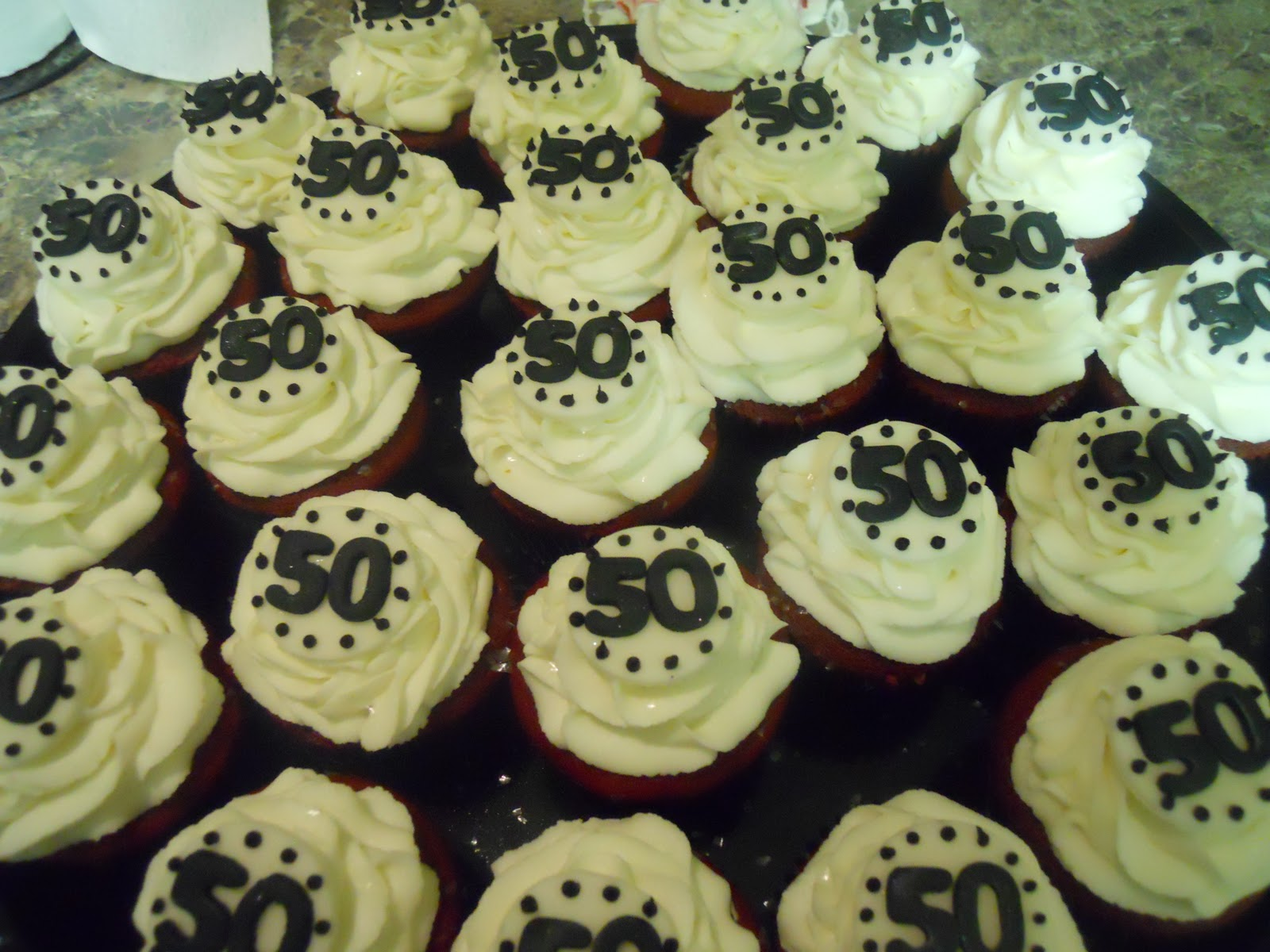 50th Birthday Cupcakes Decorations Image Inspiration of Cake and