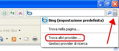 Trova altri provider
