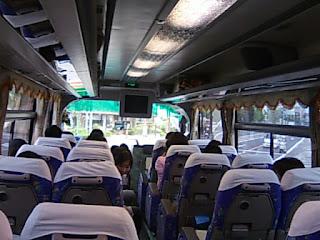 彦根観光バスの中