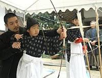 竜王・石部神社で弓始め神事