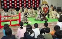 多賀で児童、雅楽の音楽しむ