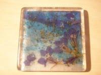 Cuadrado de resina azul