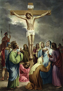 People Praying while Jesus Christ on the Cross Wallpaper