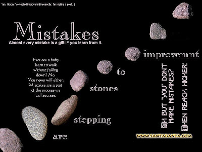 Motivational Wallpaper on Importance of Mistakes: Every Mistakes is Gift if You Learn