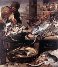 Frans Snyders (b. 1579, Antwerp, d. 1657, Antwerp), The Fishmonger (Oil on canvas, 170 x 145 cm)