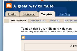 Blogger.com in Bahasa Indonesia
