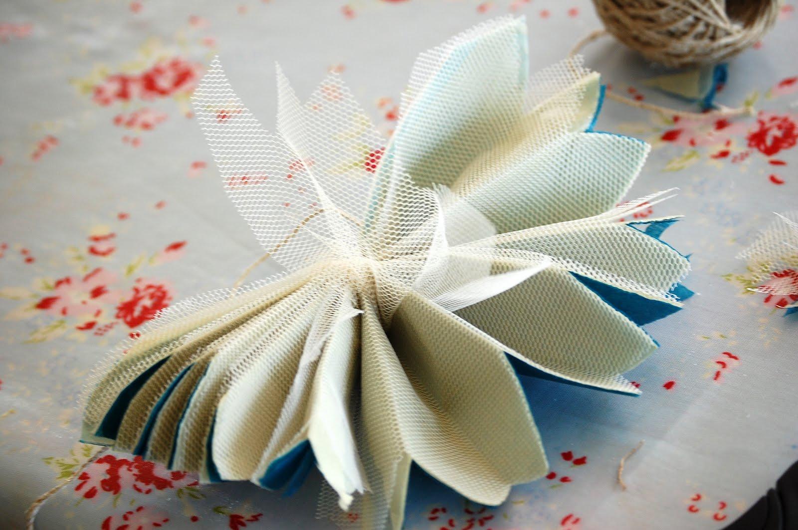 Цветы из тюли своими руками мастер класс