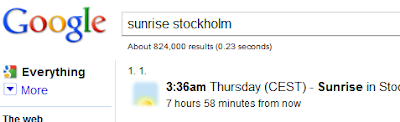 Find the Sunset and Sunrise Time with Google Search