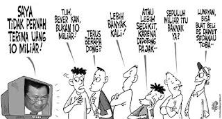 karikatur kesaksian Komjen Susno Duadji di depan Komisi III DPR RI