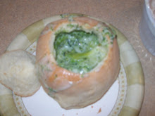 Bread Bowls w/ Broccoli Soup