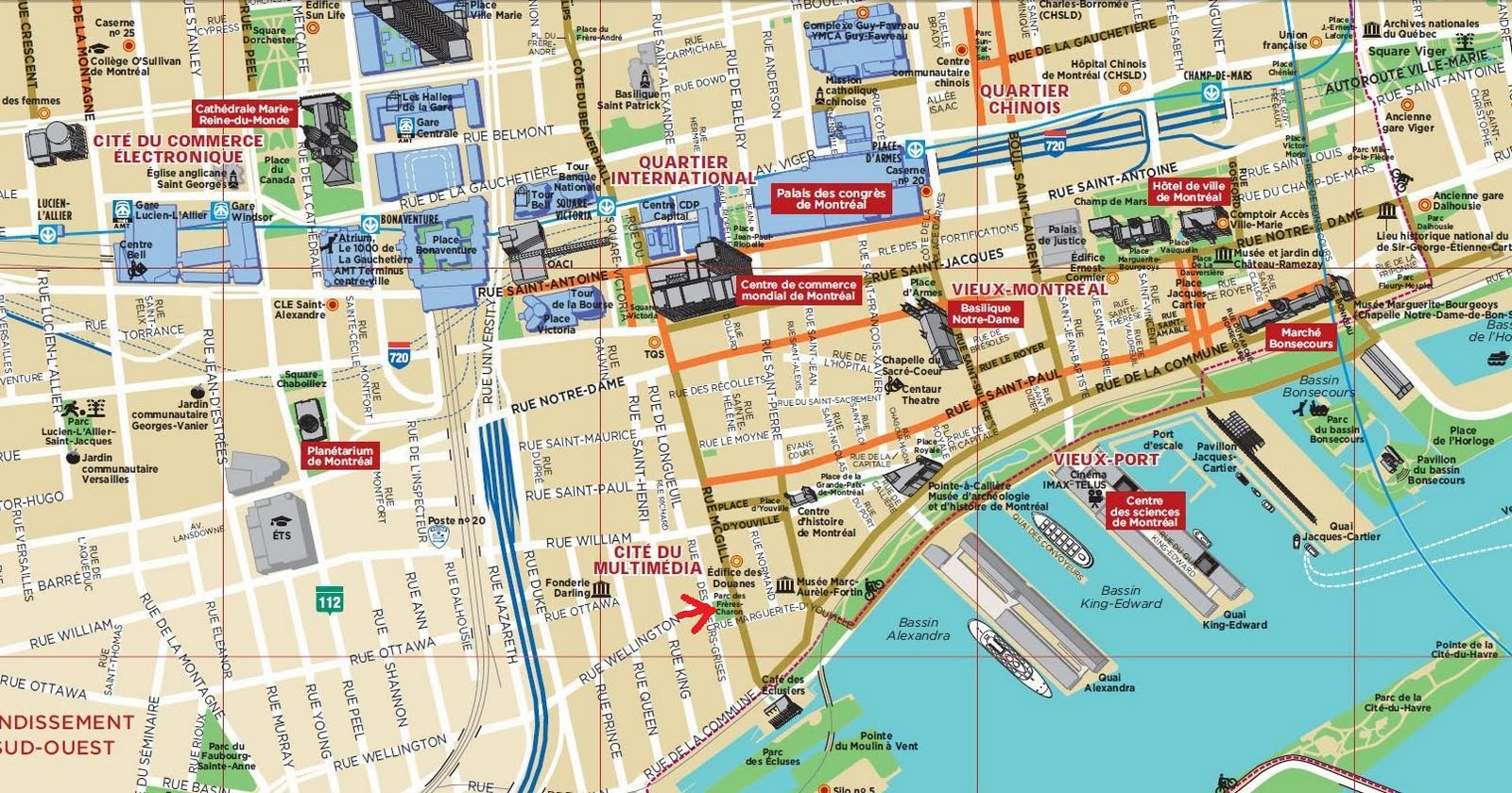 Montreal Map – Montreal Tourist Attractions Map