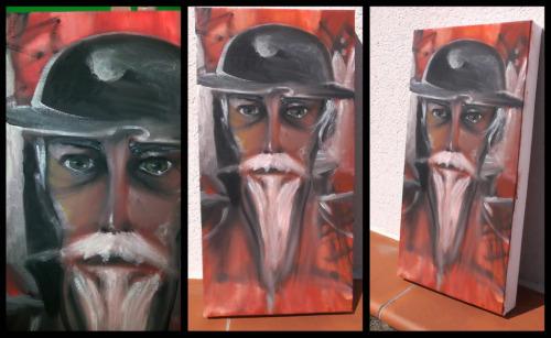 Pintura al oleo de Don Quijote